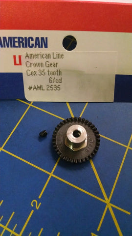 One AML2535 Crown Gear 35T White 1/24 slot car from Mid America Naperville