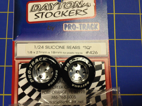 Pro Track #426 Daytona stockers 27mm 18mm Silicone Tires 1/8 axle Mid America