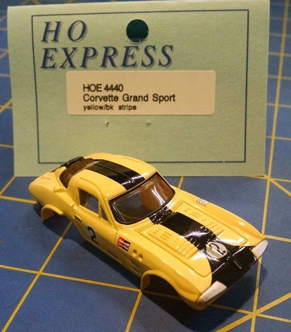 HO Express 4440 Corvette Grand Sport Yellow HO slot car Mid America Naperville