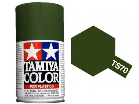 Tamiya TS-70 Olive Drab (JGSDF) Spray Paint Can 3.35 oz 100ml Mid-America