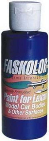 Parma Faskolor FASESCENT BLUE #40151 Airbrush Paint Slot Car 1/24 Mid-America
