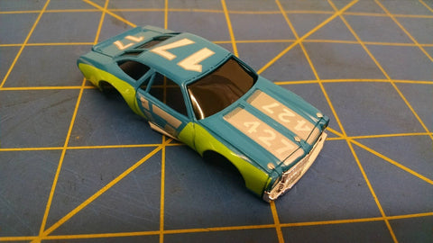 Blue Green 70 Stock Car American Line Body HO Mid America AML B453-BL
