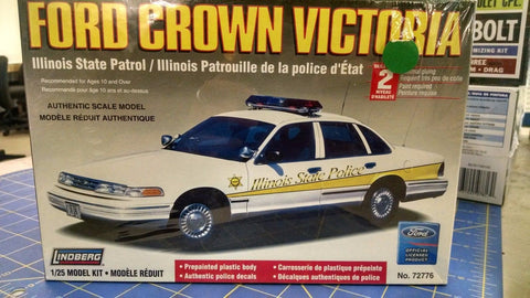 Lindberg Ford Crown Victoria Illinois State Model Kit -Mid-America Naperville