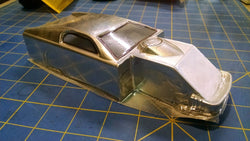 Custom Painted Dirt Modified Silver Lexan Body from Mid-America