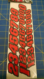 JK 20031R Stock Car Numbers Red Decals from Mid America Naperville