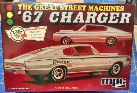 "MPC 829 The Great Street Machines ""67 Charger Model Kit Mid America"