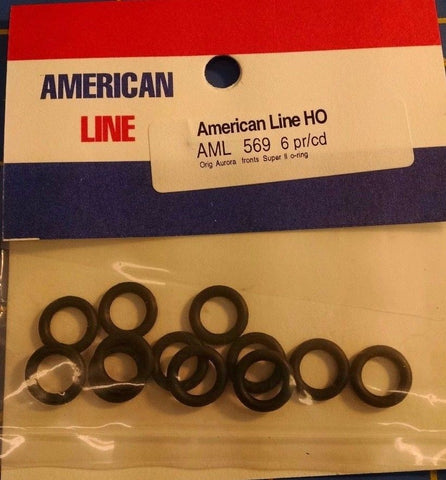 American Line AML#569 6 Pair Orginal Aurora Fronts Super II O Ring Mid America