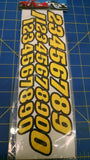 JK 20031Y Stock Car Numbers Yellow Decals from Mid America Naperville