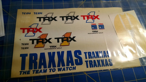 Traxxas 2713 Decals TRX-1 (includes window mask) from Mid-America Naperville