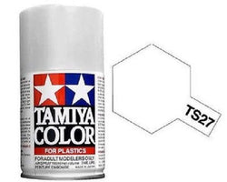 Tamiya TS-27 MATTE WHITE Spray Paint Can 3 oz 100ml 85027 Mid-America Naperville