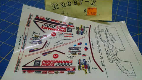 Racer-X #9 Performance Parts Decal from Mid-America Naperville