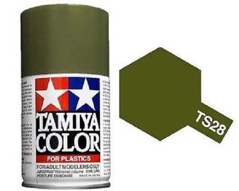 Tamiya TS-28 OLIVE DRAB 2 Spray Paint Can 3 oz 100ml 85028 MidAmerica Naperville