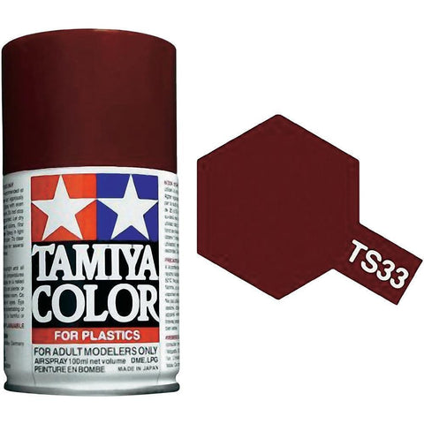 Tamiya TS-33 Dull Red Spray Paint Can 3.35 oz 100ml Mid-America Naperville