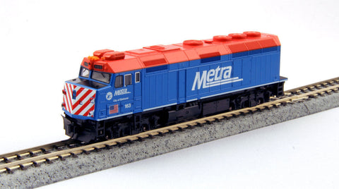 KATO N GAUGE 176-9103 F40PH CHICAGO METRA #163 from Mid-America Naperville