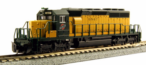 KATO N GAUGE 176-4818 SD40-2 EARLY C&NW 6847 from Mid-America Raceway Naperville