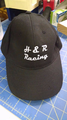 H&R Black Baseball Hat 1/24 slot car from Mid America Raceway