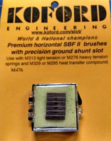 Koford M476 Premium Horizontal SBF II Brushes Slot Car 1/24 Mid America Napervil