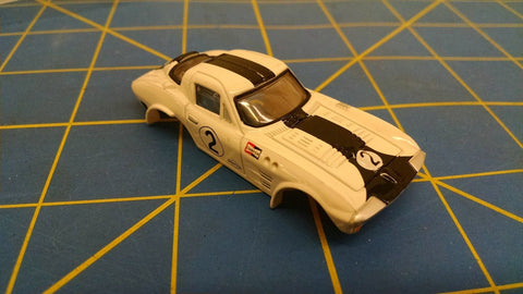 HO Express 4440 Corvette Grand Sport White HO slot car Mid America Naperville