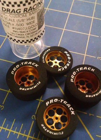 Pro Track N407J Gold Magnum 1 1/16x500 Rear & Front Drag Tires Mid America
