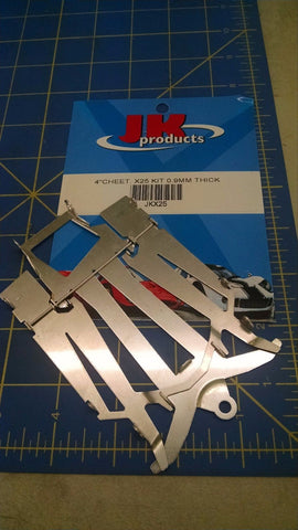 JK X25 4 Cheet Kit 0.9MM Thick 1/24 Chassis Kit Slot Car Mid America Naperville