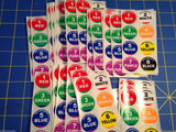 60 Mid America lane stickers 1/24 slotcar from Mid America Raceway