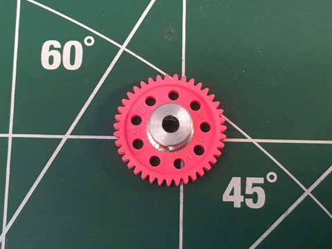 Parma #70107 3/32 axle 64 Pitch 39 Tooth Spur Gear 1/24 slot Mid America Raceway