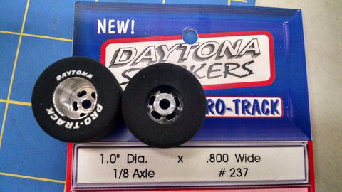 Pro Track 237 Daytona stockers 1.0 x .800 rear Tires 1/8 axle Mid America