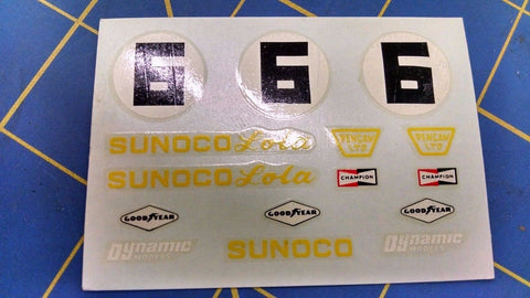 Dynamic 5513 6 6 6 Sunoco Lola Decals from Mid America Naperville