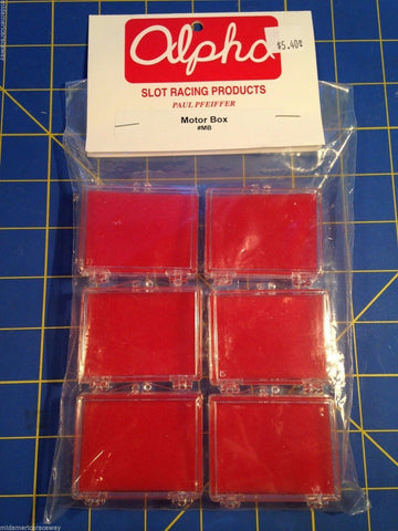 6 Alpha Motor Storage Boxes Slot Car 1/24 from Mid-America Raceway