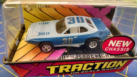 Johnny Lightning #01-09 Plymouth Stock Car Blue on Blue HO AML Naperville