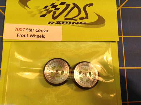 "JDS 7007 Star Convo Drag Front Wheels, 3/4"" Diameter From Mid America Raceway"