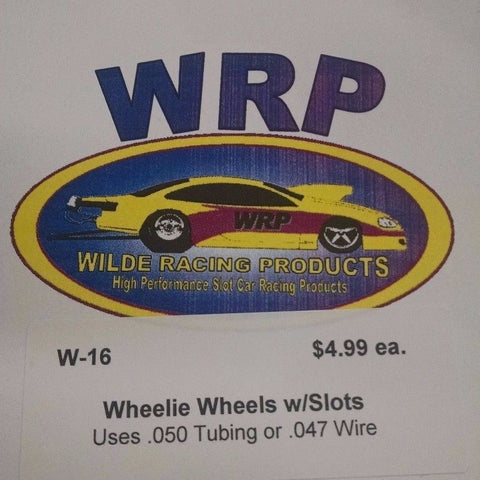 WRP Wheelie Wheels W-16 Slots 1/24 Drag Car Mid-America Naperville