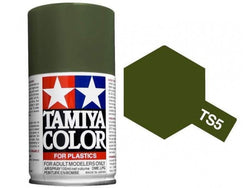 Tamiya TS-5 Olive Drab Spray Paint Can 3 oz 100ml 85005 Mid-America Naperville
