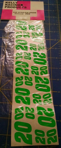 Kelly Racing Products Cup Style Flo Green #20 Decals from Mid America Naperville