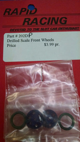 Rapid Racing #202D-Purple Drilled Scale Front Wheels from Naperville