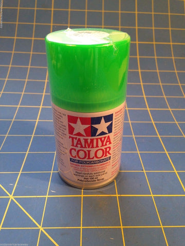 Tamiya PS-28 Fluorescent Green Polycarbonate Spray Paint # 86028 Mid-America