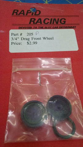 "Rapid Racing #205 Purple 3/4"" Drag Front Wheels from Mid-America Naperville"