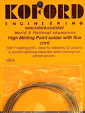 Koford M618 High Temp Silver Solder w/ Flux Core 1/24 Slot Car from Mid America