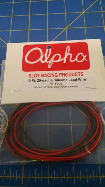 Alpha 511-R/B 10ft 20Gauge Silicone Lead Wire Slot Car 1/24 Mid-America Napervil