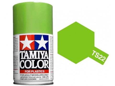 Tamiya TS-22 LIGHT GREEN Spray Paint Can 3 oz 100ml 85022 Mid-America Naperville
