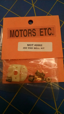 Motor ETC 2662 26D End Bell Kit 1/24 slot car from MidAmerica Raceway Naperville