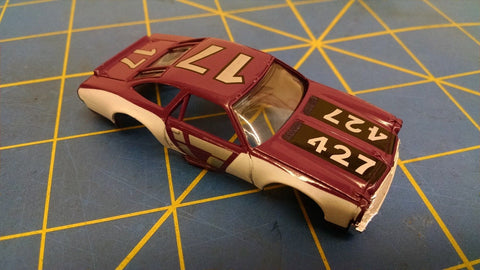 Purple 70 Stock Car American Line Body HO Mid America AML B453-PR