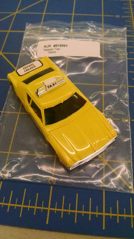 AURORA HO SUPER MAGNA Yellow Taxi slot car body B1939Y Mid-America Napervill