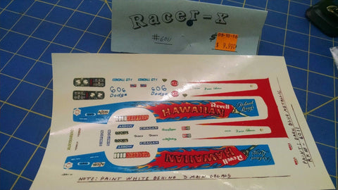 Racer-X #6011 Hawaiian Decal from Mid-America Naperville