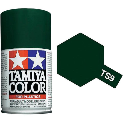 Tamiya TS-9 BRITISH GREEN Spray Paint Can 3 oz 100ml 85009 Mid-America
