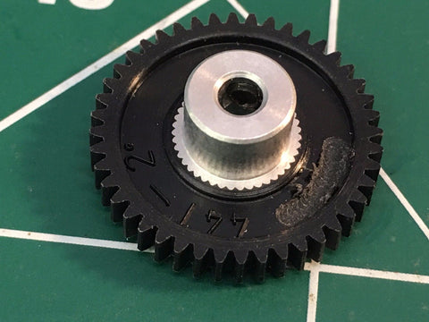 Cahoza 2° 72 Pitch 44 Tooth 3/32 axle spur gear from Mid America Raceway