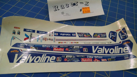 Racer-X #42 Valvoline Decal from Mid-America Naperville