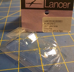 "Lancer 260-7 007"" Stingray Clear Lexan HO body slot car Mid America"