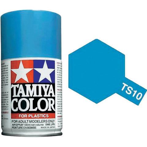 Tamiya TS-10 FRENCH BLUE Spray Paint Can 3 oz 100ml 85010 Mid-America Naperville