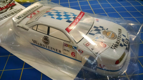 JK Custom Painted DTM BMW White 1/24 slot car body Mid America